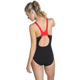 speedo Boom Splice Muscleback Costume da bagno Donna, nero/rosso